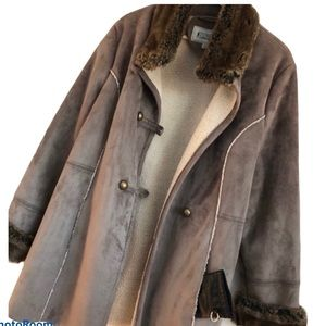 Tower by London Fog Winter Faux Suede Coat New